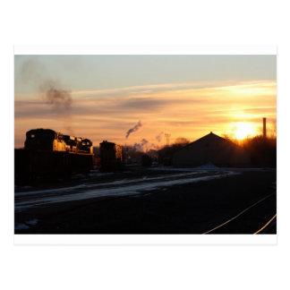sunrise at west springfield yard postcard