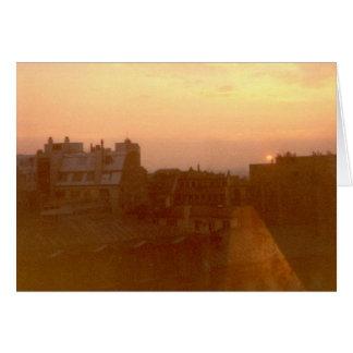 """""""Sunrise, Avenue Marceau, Paris"""" Card"""