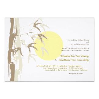 Sunrise Bamboo Zen Tropical Nature Chinese Wedding 13 Cm X 18 Cm Invitation Card