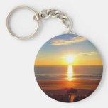 Sunrise Basic Round Button Key Ring