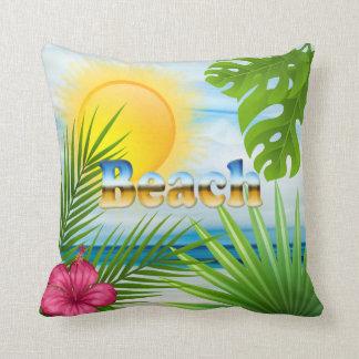 Sunrise Beach Tropical Design Cushion