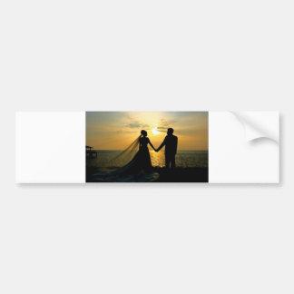Sunrise Beach Wedding Bumper Sticker