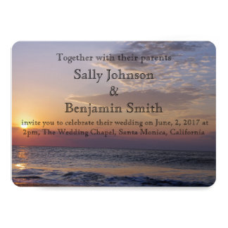 Sunrise Beach Wedding Card