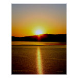 sunrise beaver lake. poster
