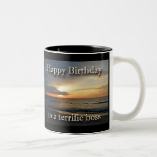 Sunrise Birthday Boss Coffee Mug
