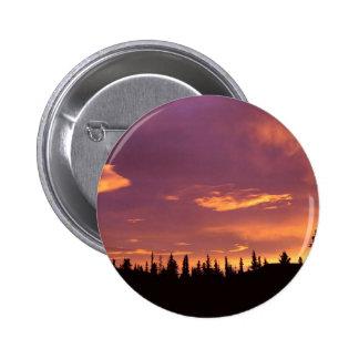 Sunrise Boreal Forest Alaska Pinback Button