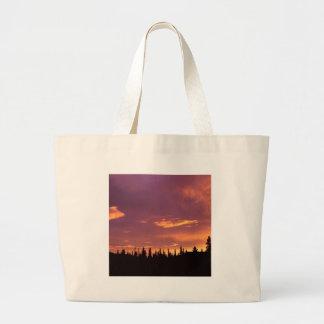 Sunrise Boreal Forest Alaska Tote Bags