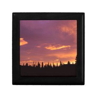 Sunrise Boreal Forest Alaska Jewelry Box