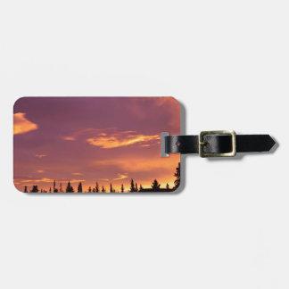 Sunrise Boreal Forest Alaska Tags For Luggage