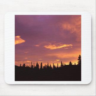 Sunrise Boreal Forest Alaska Mouse Pads