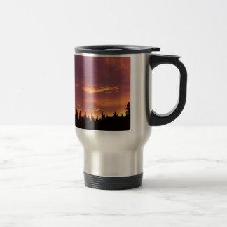 Sunrise Boreal Forest Alaska Mug