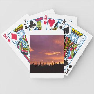 Sunrise Boreal Forest Alaska Deck Of Cards