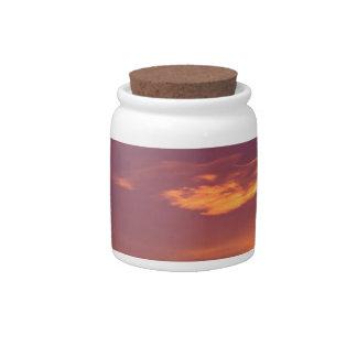 Sunrise Boreal Forest Alaska Candy Jars