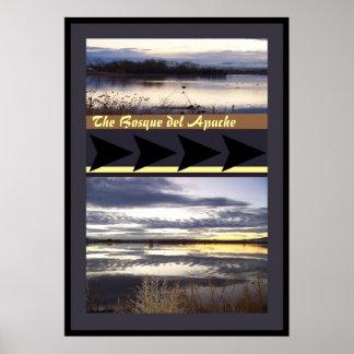 Sunrise Bosque del Apache NWR Wildlife Refuge Poster
