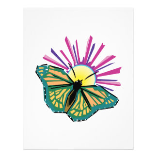 sunrise butterfly design 21.5 cm x 28 cm flyer