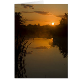 Sunrise by a lake card
