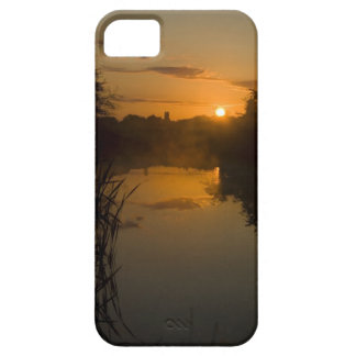 Sunrise by a lake iPhone 5 case