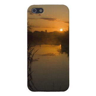 Sunrise by a lake iPhone 5 cover