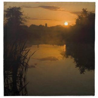Sunrise by a lake napkin