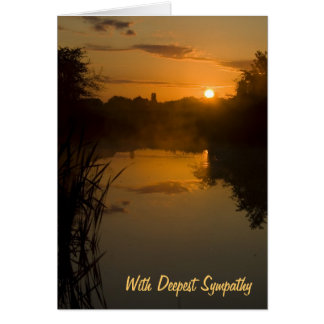Sunrise by a lake Sympathy Card
