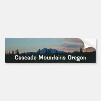 Sunrise Cascade Mountains Oregon Bumper Sticker
