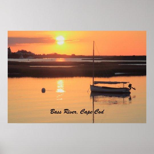 Sunrise Catboat, Cape Cod poster