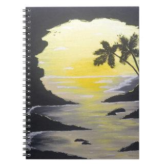 Sunrise Cave Spiral Notebook