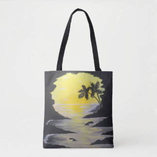 Sunrise Cave Tote Bag