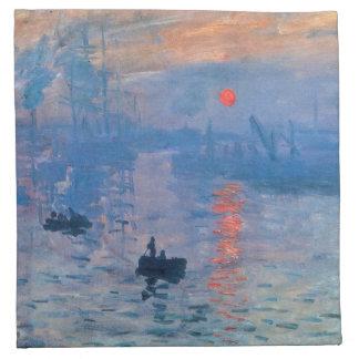 Sunrise - Claude Monet Cloth Napkin