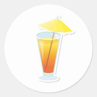 Sunrise Cocktail Round Sticker