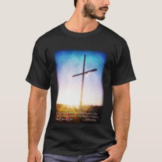 Sunrise Cross John 3:16 T Shirt Dark Colors