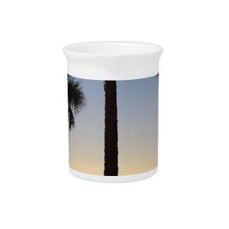 Sunrise Dawn Daybreak Palm Tree Sky Beach Pitcher