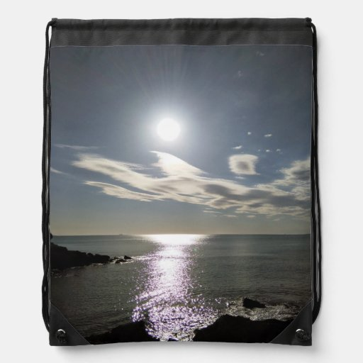 Sunrise Drawstring Backpack by IreneDesign2011