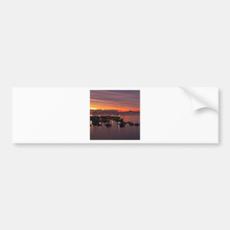 Sunrise Early Morning Harbour Bumper Stickers