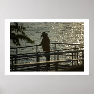 Sunrise Fisherman Print