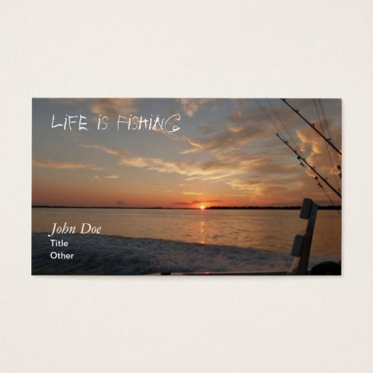 Sunrise Fishing Business Card