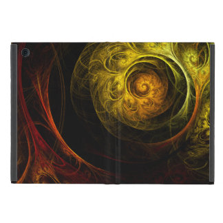 Sunrise Floral Red Abstract Art Covers For iPad Mini