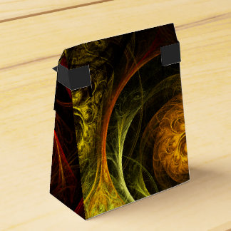 Sunrise Floral Red Abstract Art Favour Box