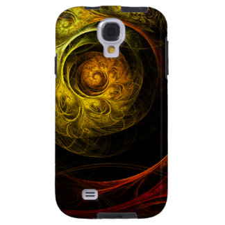Sunrise Floral Red Abstract Art Galaxy S4 Case