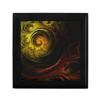Sunrise Floral Red Abstract Art Gift Box