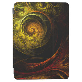 Sunrise Floral Red Abstract Art iPad Air Cover