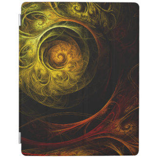 Sunrise Floral Red Abstract Art iPad Cover