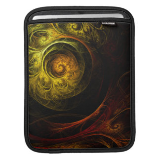 Sunrise Floral Red Abstract Art iPad Sleeve