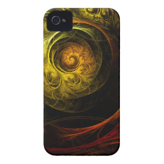 Sunrise Floral Red Abstract Art iPhone 4 / 4S Case-Mate iPhone 4 Case