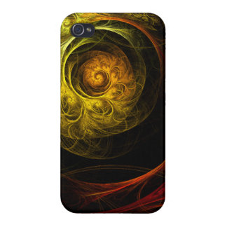 Sunrise Floral Red Abstract Art iPhone 4/4S Cover