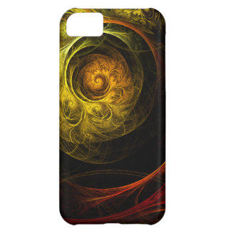 Sunrise Floral Red Abstract Art iPhone 5C Case
