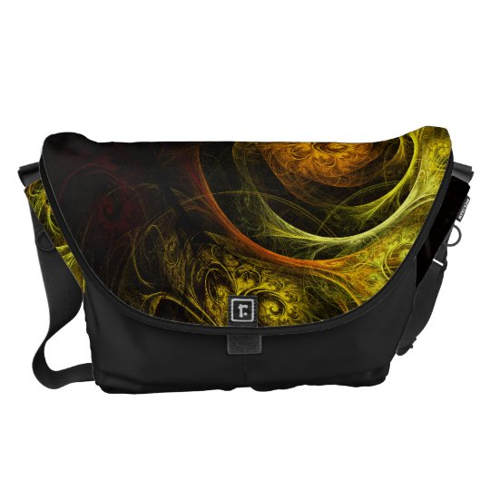 Sunrise Floral Red Abstract Art Large Bag Messenger Bags