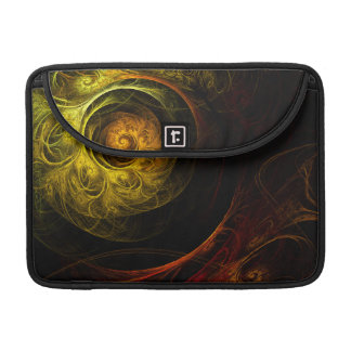 Sunrise Floral Red Abstract Art Macbook Pro Sleeves For MacBooks