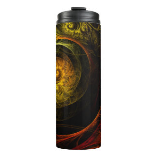 Sunrise Floral Red Abstract Art Thermal Tumbler