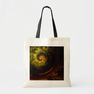 Sunrise Floral Red Abstract Art Tote Bag
